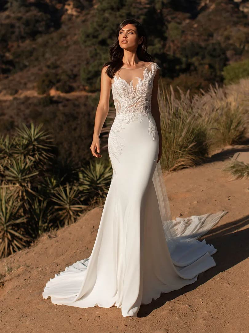The Ladd wedding dress from Pronovias Cruise collection, available from Windsor & Eton Brides